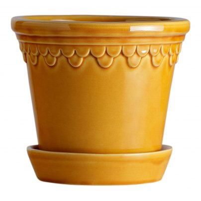 Bergs Potter Københavner blomsterpotte i Amber Yellow